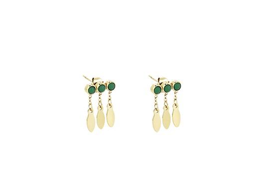 Boucles d'oreilles Navajo - malachite