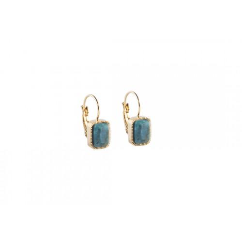 Boucles d'oreilles Murabba - turquoise africaine
