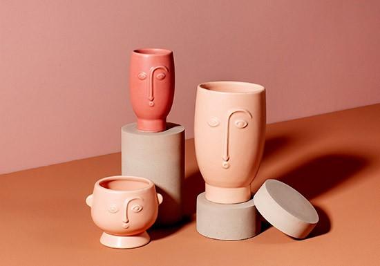 Vase Matt rose
