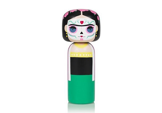 Kokeshi Frida - Dia de Muertos