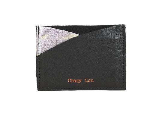 Porte-carte argent et noir