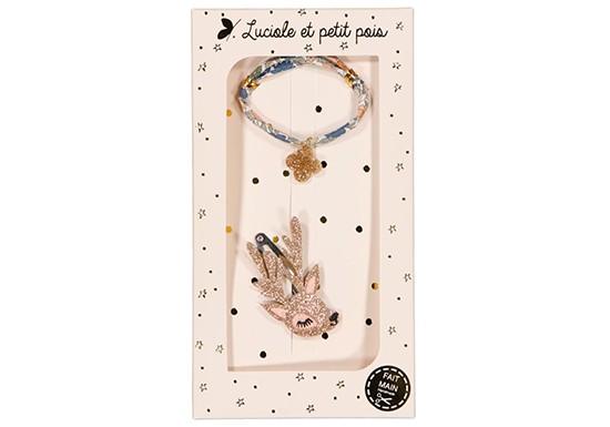 Coffret Bracelet et Barrette - Poppy Forest & Biche