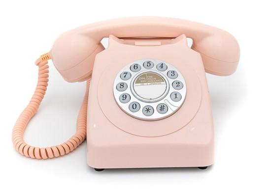 Téléphone Retro rose
