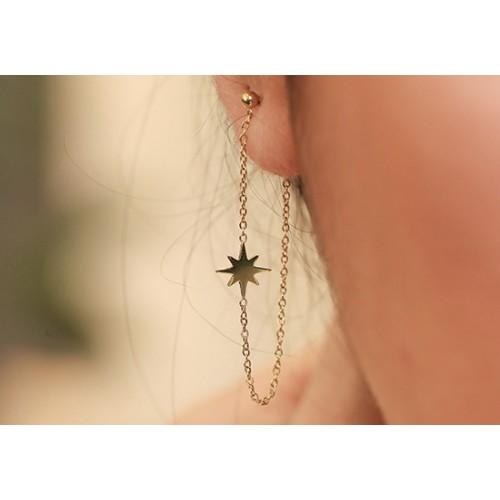 Boucles d'oreilles chaîne Star