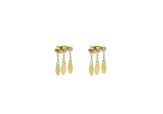 Boucles d'oreilles Navajo - zirconium