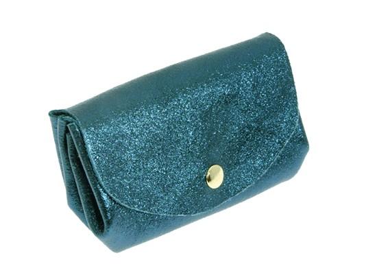 Porte-monnaie Salomé bleu canard