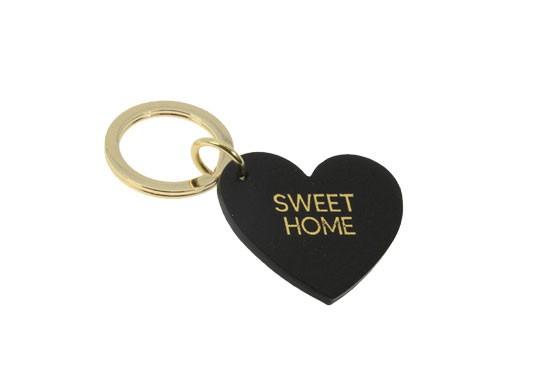Porte-clés SWEET HOME - noir