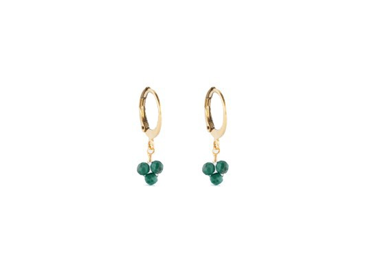 Boucles d'oreilles Rania - malachite