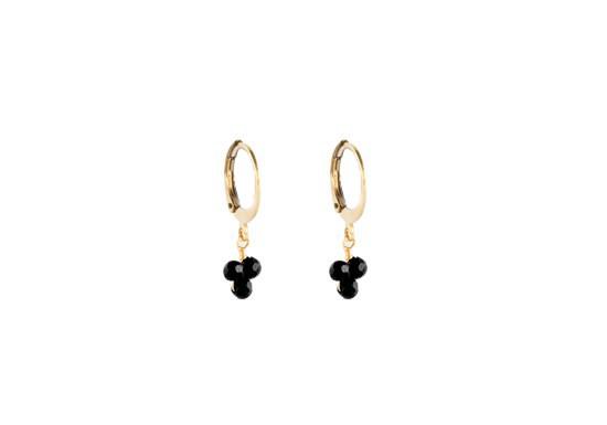 Boucles d'oreilles Rania - onyx