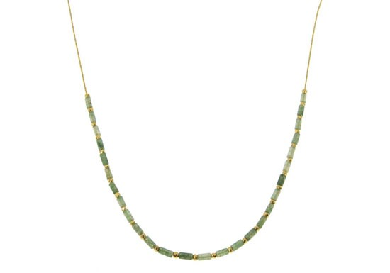 Collier Suzanne Agate mousse