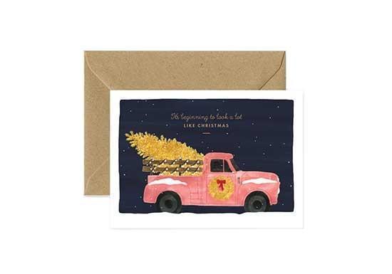 Carte postale Xmas Truck