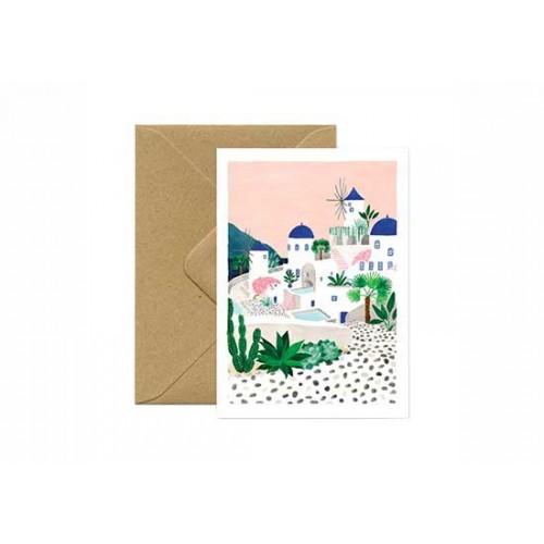 Carte postale Santorini