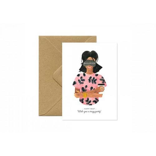 Carte postale Happy Birthday Hangover