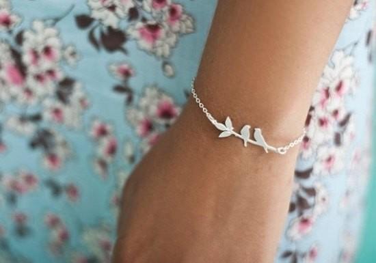 Bracelet Lovebirds argenté