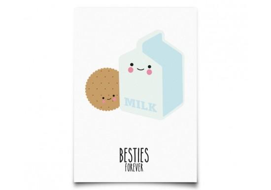 Carte postale Besties