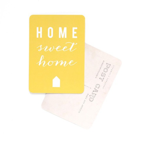 Carte postale Home sweet home - citron