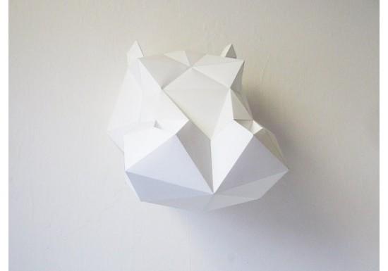 Trophée hippo blanc