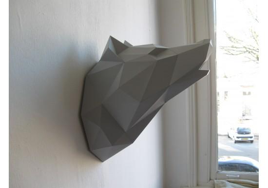 Trophée Loup gris